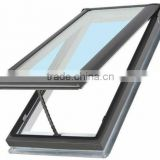 Double Glazing Aluminum top hinged roof window in guangzhou factory