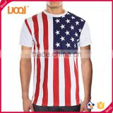 Oem wholesale silk screen printing 100% cotton us flag t-shirts for mens                                                                                                         Supplier's Choice
