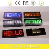 Scrolling Message Name Tag Display LED Name Badge