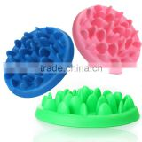 Hot Sale Modern Design 27.5cm Pet Dog Cat Food Slow Feeder Jungle Design Puppy Anti Slip Choke Proof Bowl 3 Colors