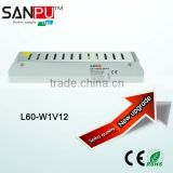 60W high quality 12v 5a power supply manufacture 100-240v variable voltage dc power supply