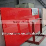 Cheap Engineered Solid Surface Red Artificial Quartz Stone Slab