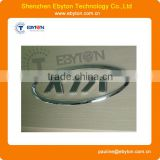 cnc machined plastic letter part with chrome plating
