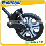 Anti-shock flat free tire modern design custom baby 3 stroller wheel