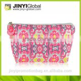 2014 fashion cheap professional makeup bag/print makeup bag/flowers makeup bag