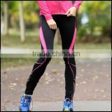 wholesale new design compression running pants for women sports stretch leggings with custom polyester tight pants