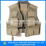 China wholesale canvas work breathable mens many pocket vest