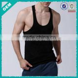 Blank gym mens stringer singlet tank top