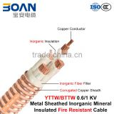 BTTW/YTTW, Fire Resistant Cable, 0.6/1 kv, Multi-Core Inorganic Mineral Insulated Corrugated Copper Sheathed Cable