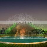 Laser water screen movie fountain