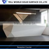 Hot sale white standard dimension salon reception desk