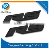 black royal english letter car emblem stickers of the 3m adhensive back of ABS material for low costs