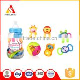 Food grade silicone infant new born baby gifts teething toys rattle