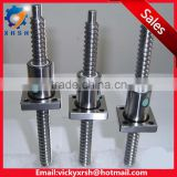 China good supplier DFV series ball screw and nut with end processing