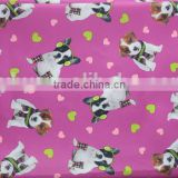 Custom digital dog printed fabric 100% Polyester fabric PVC coating fabric