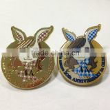 different technics cute cheap custom metal badge/security badge with butterfly cap for kids