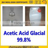 Best China factory Acetic Acid Glacial /GAA 98%with SGS Certification