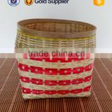 2016 cheap price handicraft portable bamboo laundry basket