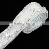 jewerly handmade craft silver DIY rhinestone trim for bridal sash