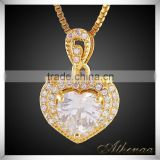 Saudi Gold Broken Heart Pendant Fancy Pendant Designs for Girls Brass Jewelry