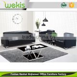 Deft design black modern office furniture leather sectional sofa set designs and prices