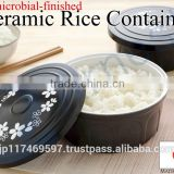 japanese cookware kitchenware cooking utensils cooker tools rice keeper ceramic box antimicrobial container size M 76377