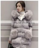 Rabbit Parka Fur Down Coat Jacket Women For The Winter