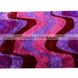 adhesive backed 3d design polyester shaggy carpets for living room