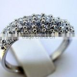 QCR063 rhodium plated silver CZ finger ring,purity 925 finger ring bijou wholesale from supplier