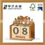 2015 hot selling FSC&SA8000 Stylish Wooden Calendar Decoration Desk Home Living Vintage Christmas Gift for wholesale