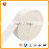 China manufacturer fashion quality elastic band with button hole for garment