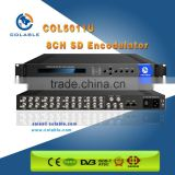 8 cvbs to dvb-c/t /isdb-t /atsc rf modulator, 8 channels sd av encoder modulator COL5011U