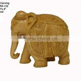 wooden handicraft decorativ-item/elephant in wood/antique wooden statues