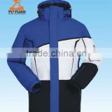 Customized mens unique winter ski jackets with taped seam and thermosealed pocket zippers