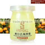 with lemon-oil & mint-oil delicate whitening Horniness face dead skin removal cream