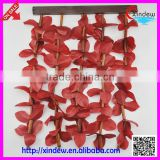 Plastic red leaf door curtain bamboo curtain door accessories XDCZ-005