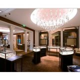 Jewelry retail store interior design Display Golden Stainless steel showcase