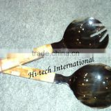 Hand Crafted Buffalo Horn Spoons,Buffalo Horn Salad Servers,Large Spoons,Salad Serving Spoon,Serving Spoon and Fork