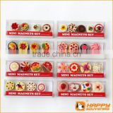 Polyresin fridge magnet miniature food series custom 3D cake shaped mini set