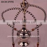 Hookah made in brass with nickel polish polish and two out let