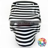 Black white stripes baby mum breastfeeding nursing poncho covers /stretchy carseat covers