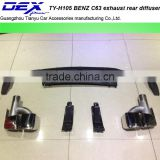 Auto PP exhaust rear diffuser for B~ENZ C63