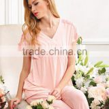 Sleeveless Vest Shorts Summer Sleepwear organic summer adult onesie cotton sleepwear and pyjamas