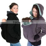 Baby Carrier Hoodie Kangaroo Warm Maternity Outerwear Coat Pregnant Zipper Coat