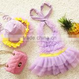 2016 Cute ballet skirt one-piece kid's swimsuit/children swimsuit