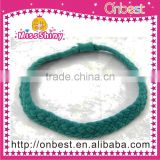 Fashion green colour sweat band head band