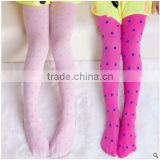 Newest Arrival Spring Summer pantyhose Cute Ballet Jacquard Polka Dots Lycra Fabric Children Tights