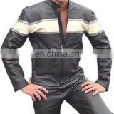 LJ-7054 Leather Motorbike Jacket