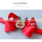 Wholesale Lovely Cute Reindeer Hair Bows Christmas Moose Antler Headband for Chrismtas Ornament