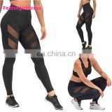 High Waist Black Fitness Wear Womens Leggings Custom For Wholesale